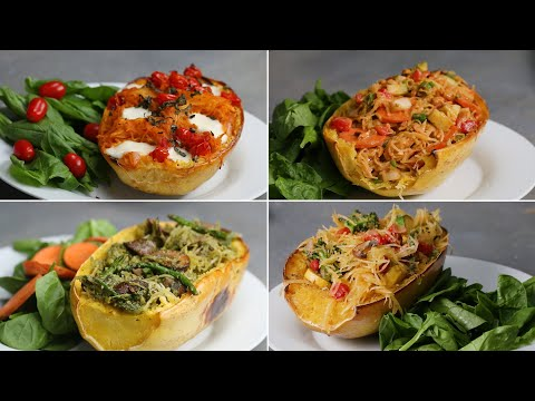 Download Youtube: Spaghetti Squash 4 Ways (Easy Dinner For 2!)