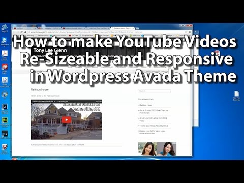 How to make YouTube videos resizable in Responsive Design Wordpress Avada Theme