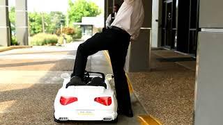 Child has valet park toy car