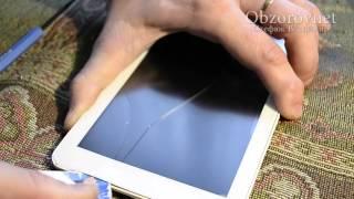 Замена сенсора в китайском планшете при помощи термофена