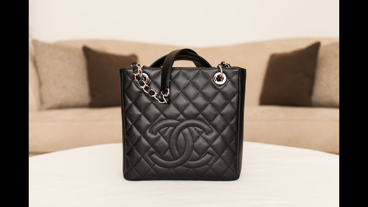 1fad68493515 Chanel Petite Shopping Tote Review - YouTube