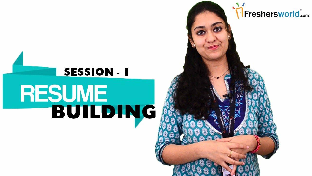 Resume Building For Freshers - Part 1   Sample Resume Format   Resume  Writing Tips - Youtube