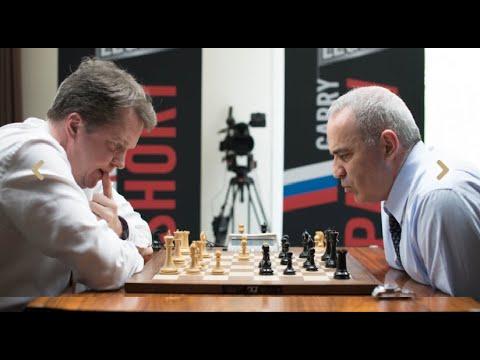 AMAZING SICILIAN!! Gary Kasparov vs Nigel Short || Blitz chess 2018