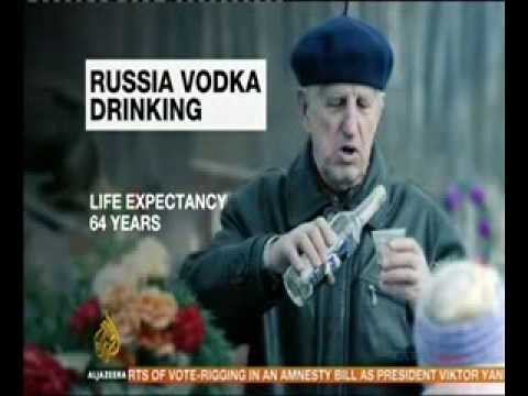 High death rates in Russia due to Vodka