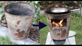 DIY Recycling #3 - Wood Stove for outdoor cooking