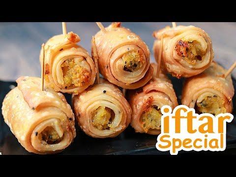 Potato Roll Samosa   Aloo Samosa Recipe   Easy Potato Snacks Recipe   Toasted