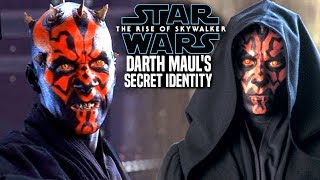 The Rise Of Skywalker Darth Maul's Secret Identity Revealed! (Star Wars Episode 9)