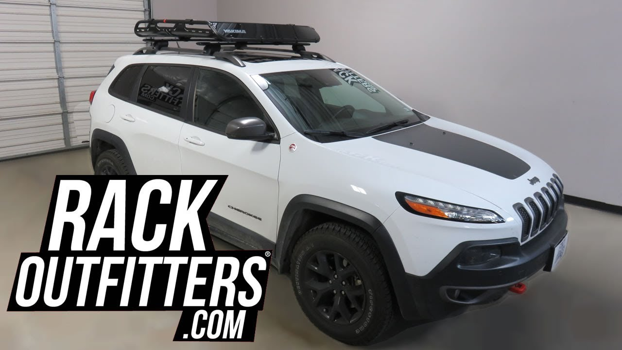 jeep cherokee with yakima offgrid roof basket by rack outfitters