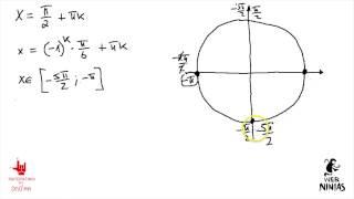 Математика без Ху%!ни. Егэ, задание С1. Показательно-тригонометрическое уравнение. Отобр корней.