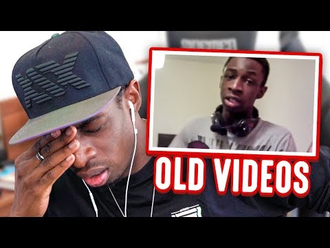 TRY NOT TO CRINGE!!! REACTING TO MY OLD VIDEOS!