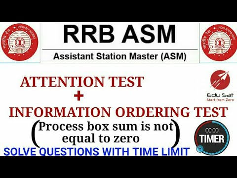 ATTENTION TEST AND INFORMATION ORDERING TEST || RRB PSYCHOLOGICAL TEST || RRB NTPC 2015