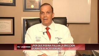 ¿Por qué podría fallar la erección durante el acto sexual?