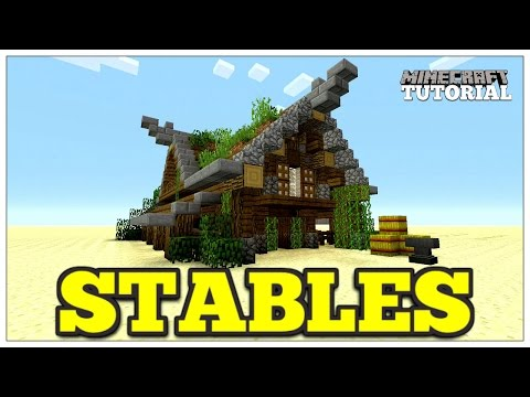 Minecraft: How To Build A Stables   Medieval Horse Stables   Medieval Tutorial