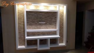Amazing creative dry Construction TV rack time lapses do it yourself homemade