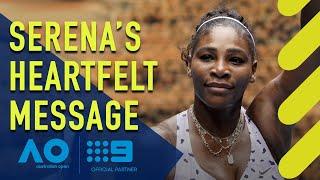 Serena's emotional bushfire message - Australian Open | Wide World of Sports