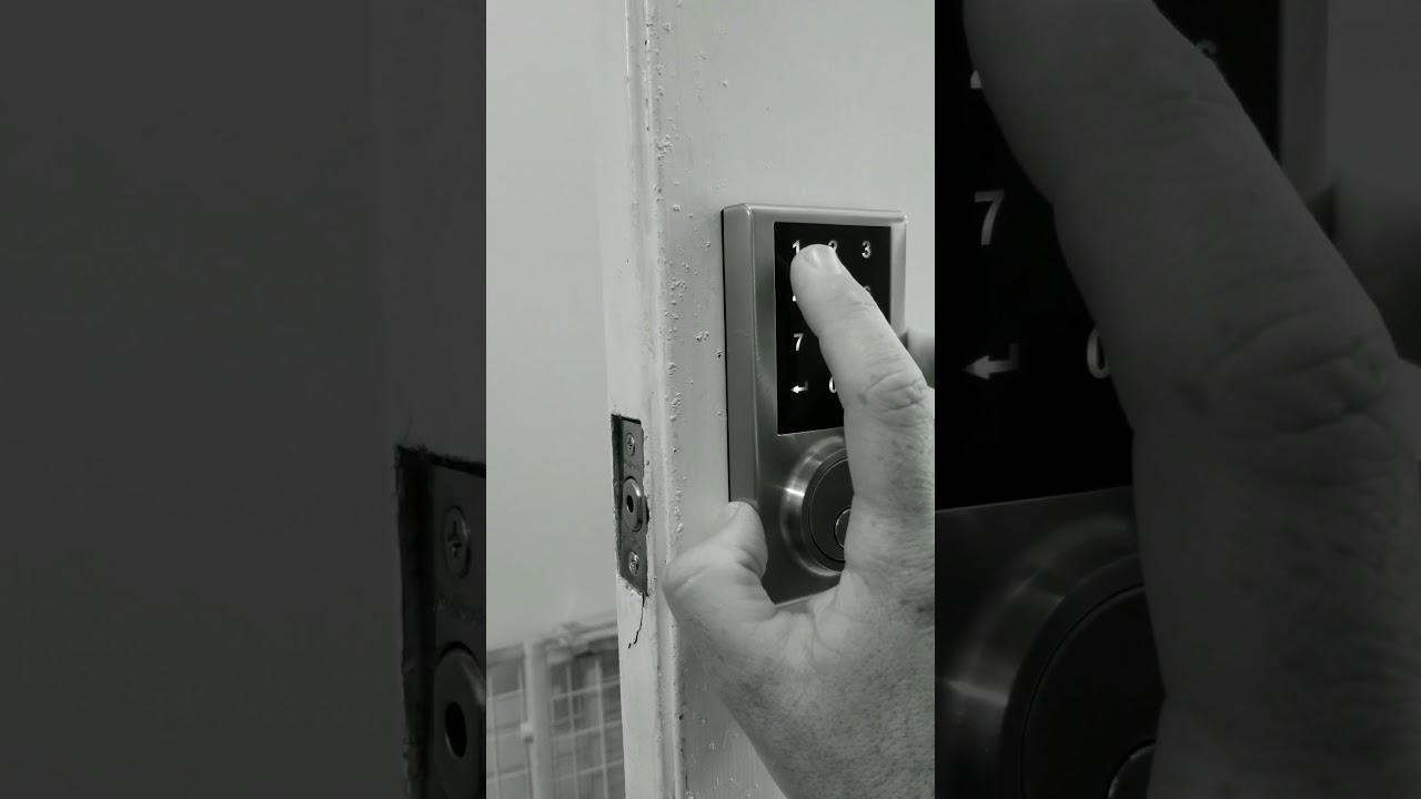 Kwikset Black Friday Electronic Deadbolt 275 part 2 HOME DEPOT