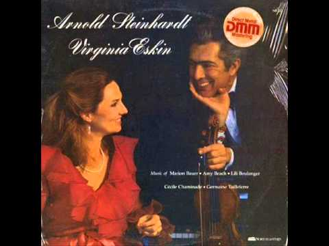 A. Steinhardt & V. Eskin perf. two Cécile Chaminade pieces