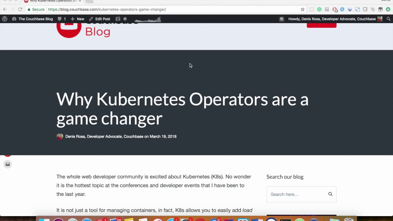 Scaling Up a Database on Kubernetes | The Couchbase Blog
