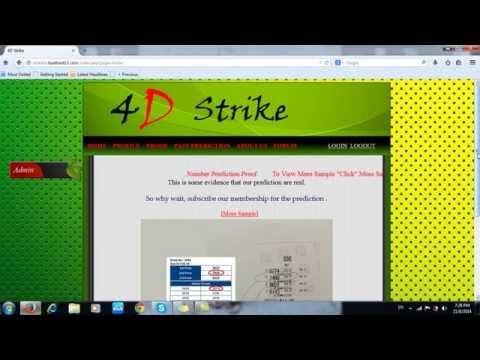 4D Strike Registration and login  tutorial