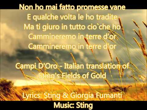 Giorgia Fumanti-Campi D'Oro (Sting's Fields Of Gold ...