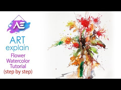 Abstract Watercolor flower painting Tutorial | How to paint a watercolor Flowers | Art Explain