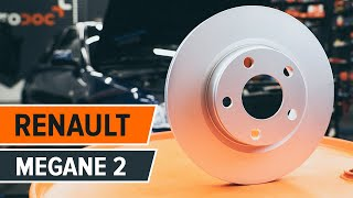 How to replace Brake pad set on RENAULT MEGANE II Coupé-Cabriolet (EM0/1_) - video tutorial