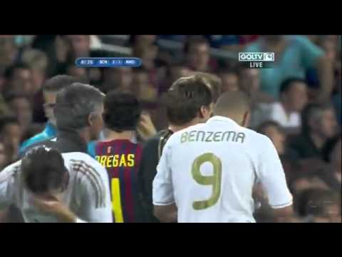 Barcelona vs Real Madrid Benzema Goal (Supercopa Final) (HD)