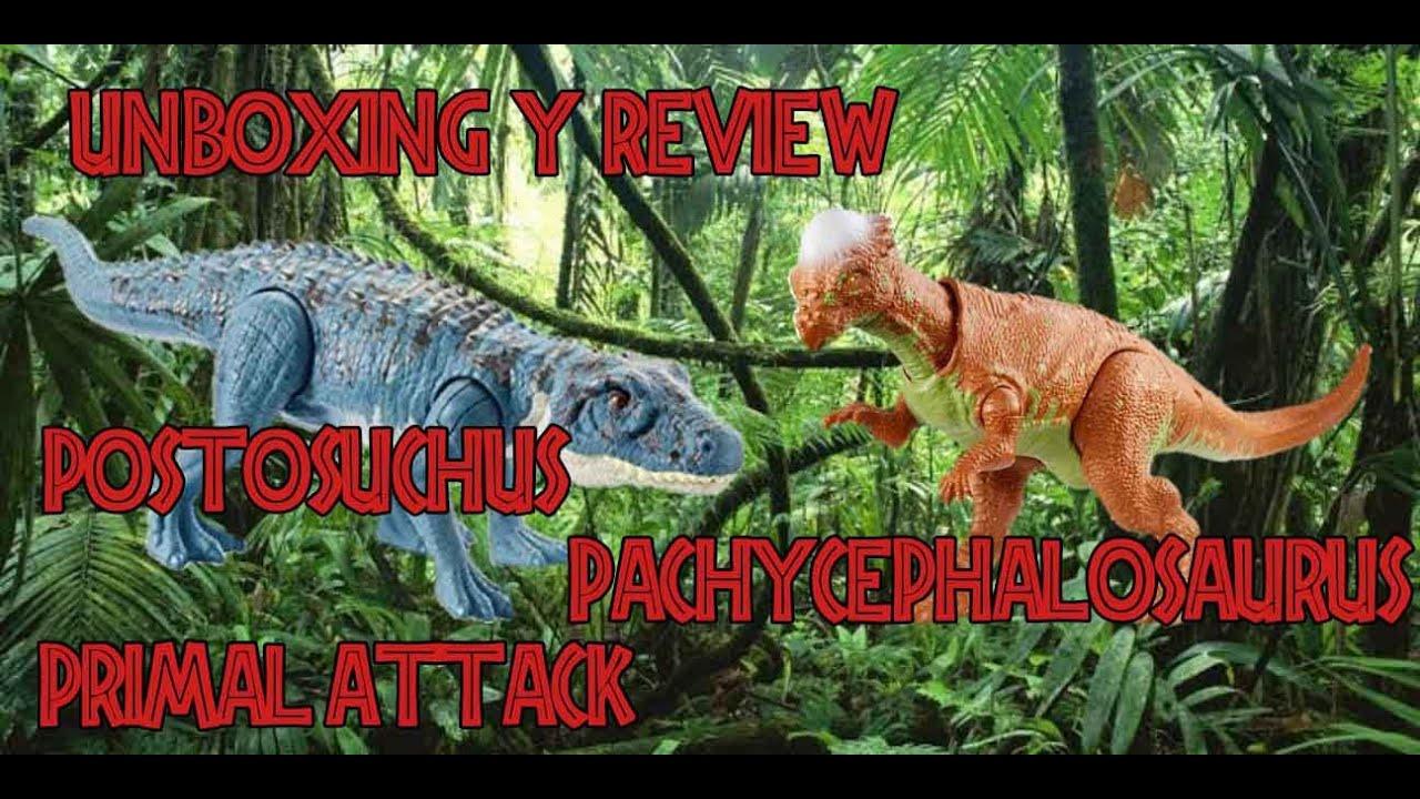 Unboxing & Review Postosuchus y Pachicephalosaurus Savage Strike Primal Attack