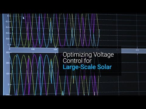 Optimizing Voltage Control for Large-Scale Solar