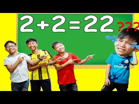 Hunter Kids Go To School Learn Colors Homework Math - Classroom Funny Nursery Rhymes