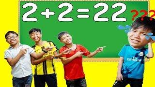 Hunter Kids Go To School Learn Colors Homework Math - Classroom Funny Nursery Rhymes