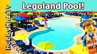 Legoland Floating Lego Bricks In Pool! Mickey Mouse, Peppa Pig, Rex Visit Legoland With Hobbykidstv™