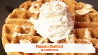 Healthy Pumpkin Waffles!
