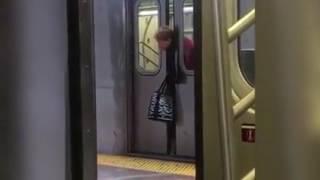 lady s head got stuck in subway doors