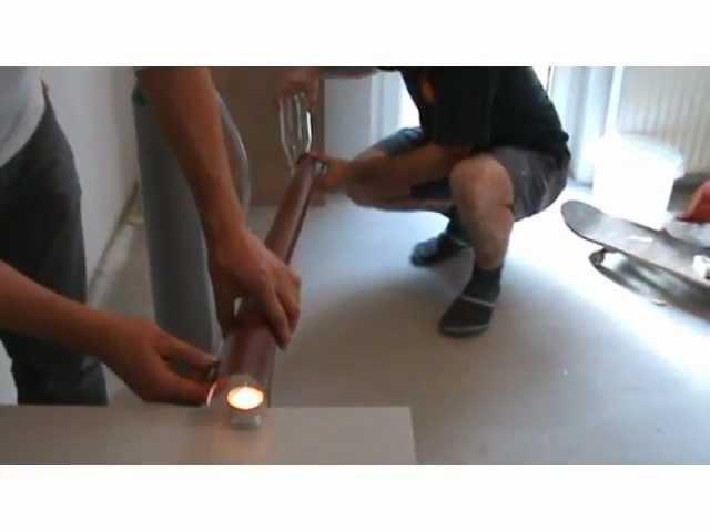 Helium flow - Science experiment