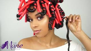 Beautiful Flexi Rod Set on Type 3 Curls ft. The Pink Lemonade Collection