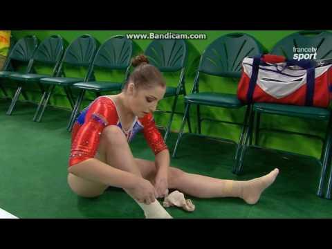 Aliya Mustafina RUS Qual Fx Olympics Rio 2016