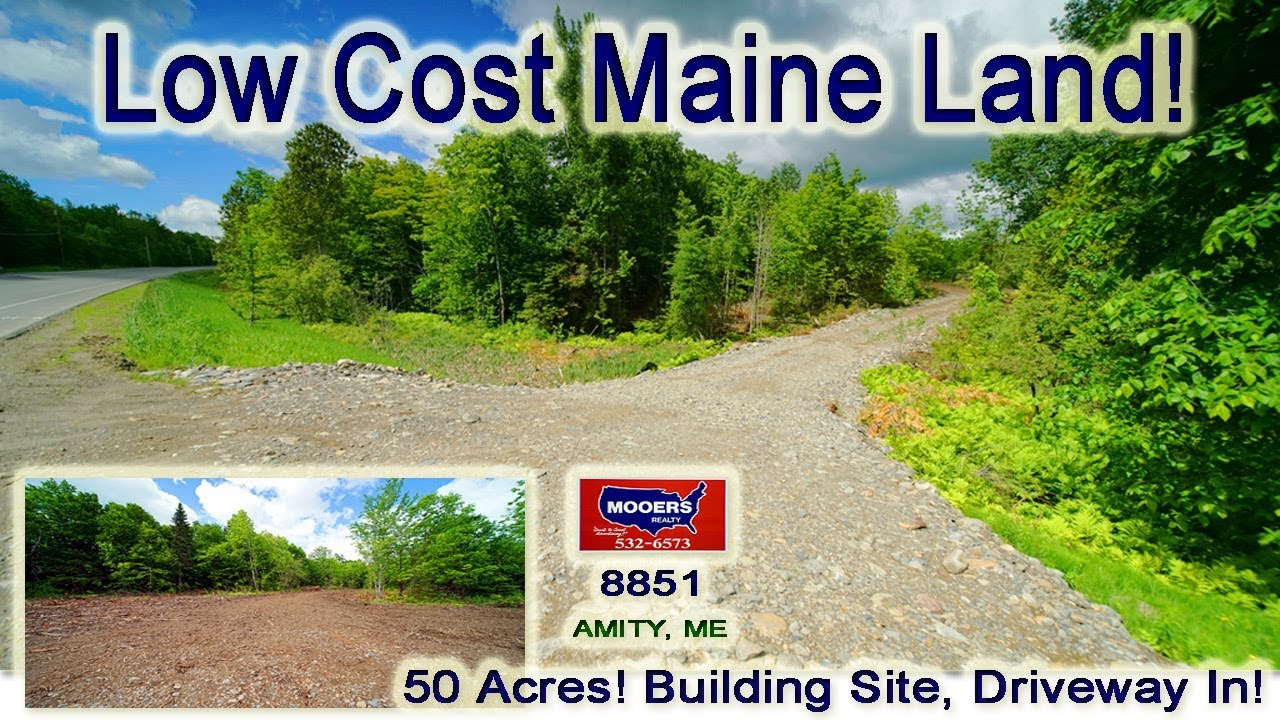 Land For Sale By Owner Near Me >> Cheap Land For Sale In Maine 50 Acres Amity Me Real Estate Mooers Realty 8851