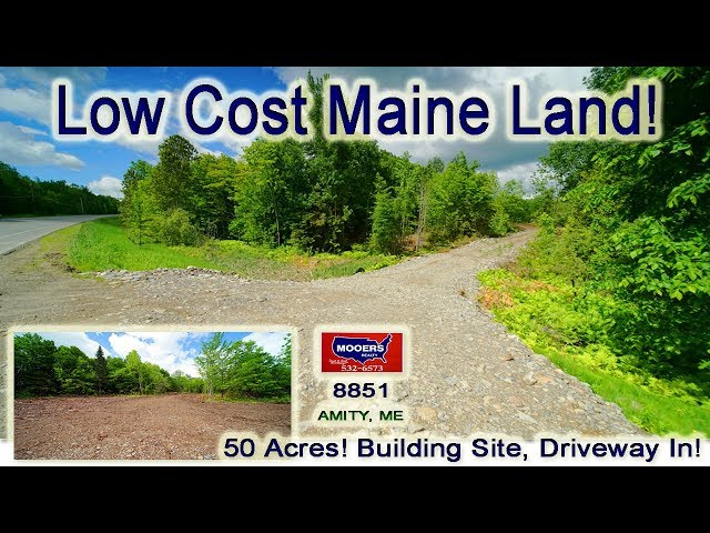 Cheap Land For Sale In Maine | 50 Acres Amity ME Real Estate MOOERS REALTY #8851