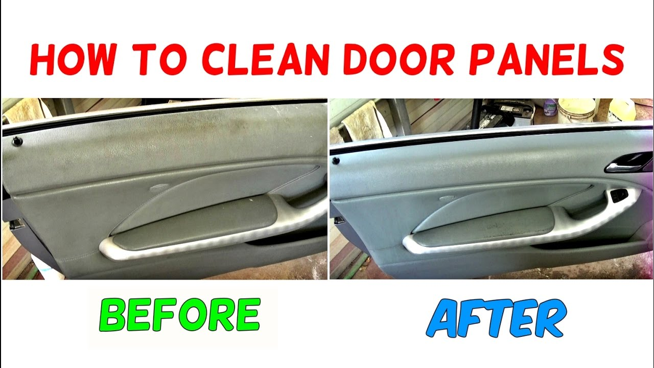How to clean door panel how to clean car interior youtube - Restore car interior plastic trim ...