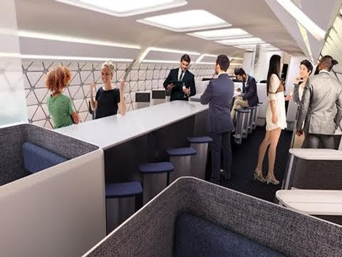 Airbus Cabins Of The Future Are Set To Feature Gyms Spas And Childrens Play Areas Using Latest Techn