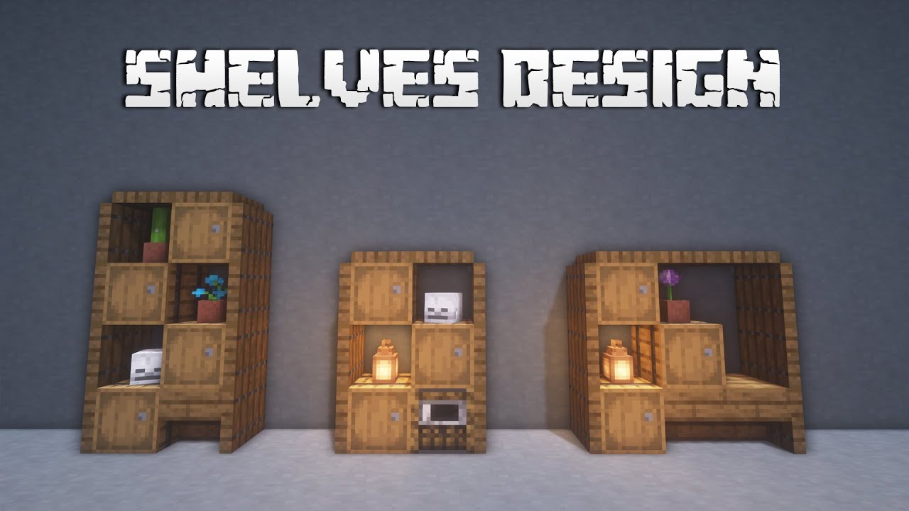 1.16 Minecraft Building Tips - Shelves Design - YouTube