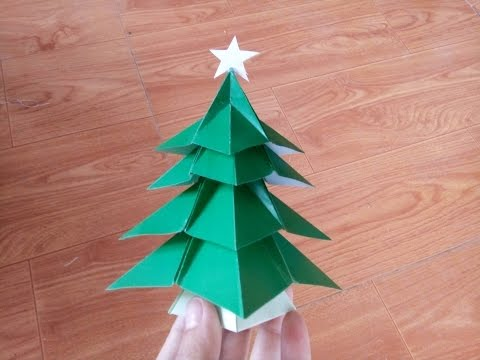 Hướng dẫn cách gấp cây thông noel bằng giấy đơn giản mà đẹp