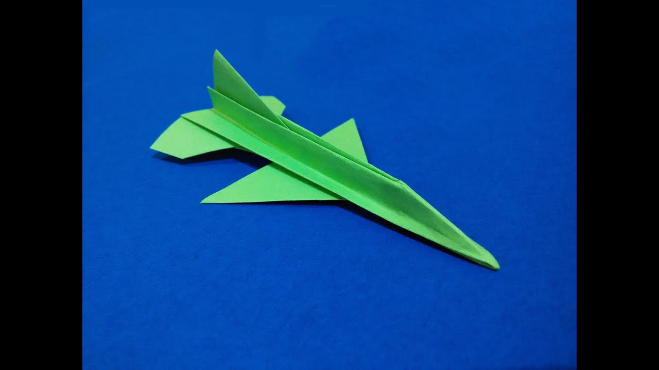 Papercraft Origami F-16 Falcon Tutorial -  Flying model. Paper Airplane that Flies