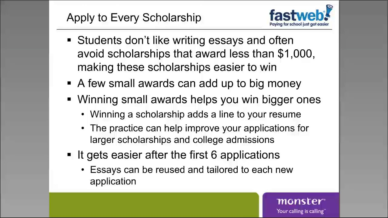 How to Find and Win Scholarships and Fellowships | Training