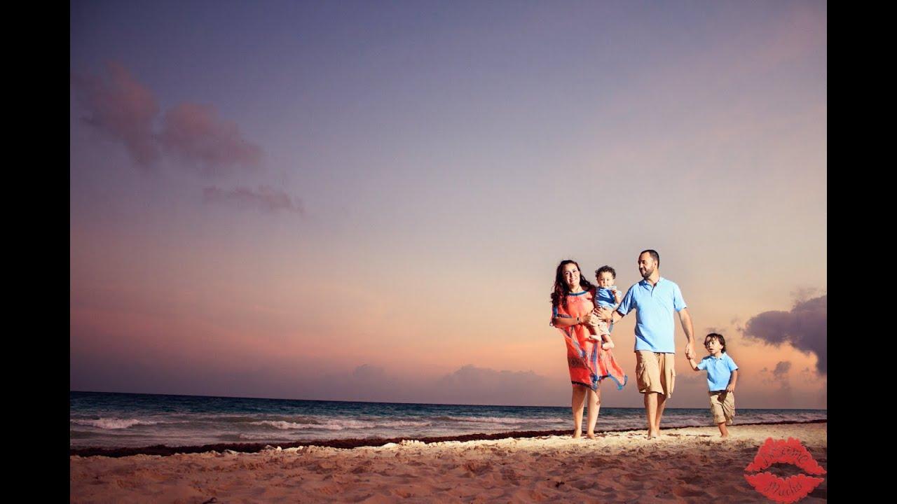 Sesi n de fotos en familia playa del carmen youtube for Apartahoteles familiares playa