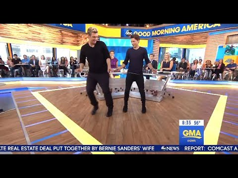 Tom Holland - Chats Spiderman 'Dance Moves With Nick Carter' (GMA)