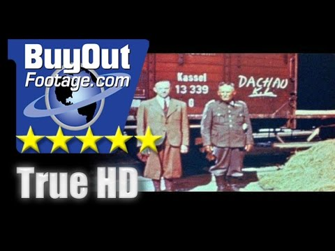 HD Historic Stock Footage WWII Color - DACHAU CONCENTRATION CAMP - HOLOCAUST