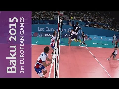 Poland drop shot alludes Slovakia | Volleyball | Baku 2015 European Games