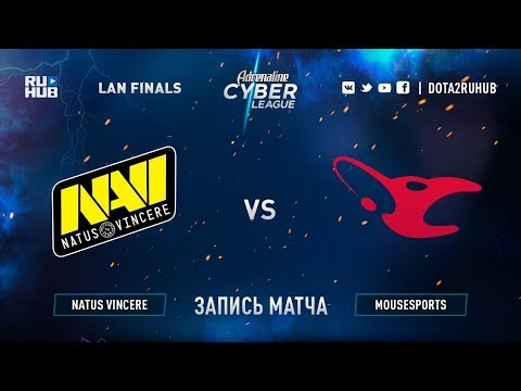 Natus Vincere vs Mousesports, Adrenaline Cyber League, game 2 [Jam, Maelsorm]